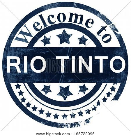 Rio tinto stamp on white background