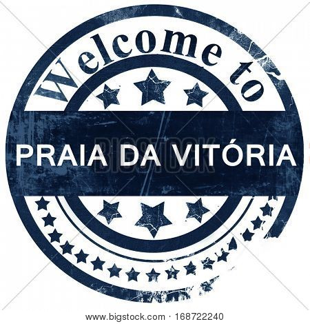 Praia dat vitoria stamp on white background