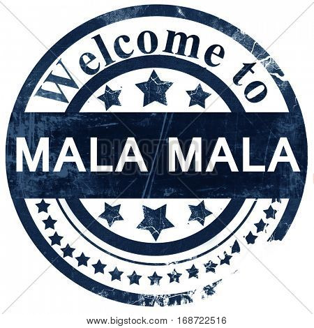 Mala mala stamp on white background