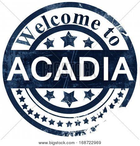 Acadia stamp on white background