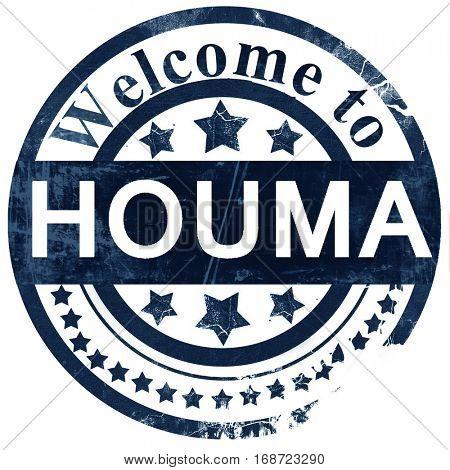 houma stamp on white background