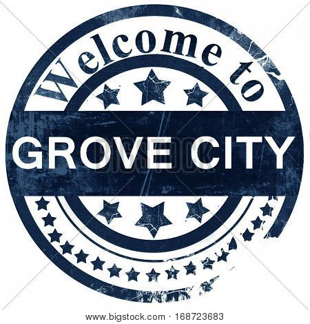 grove city stamp on white background
