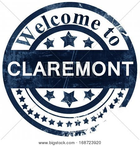 claremont stamp on white background
