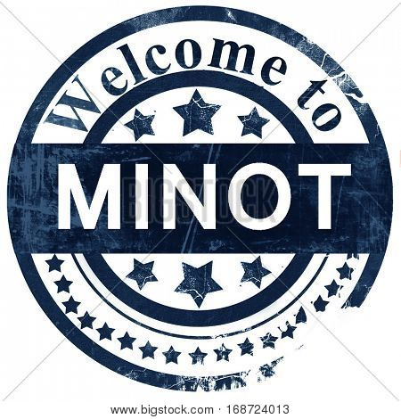 minot stamp on white background