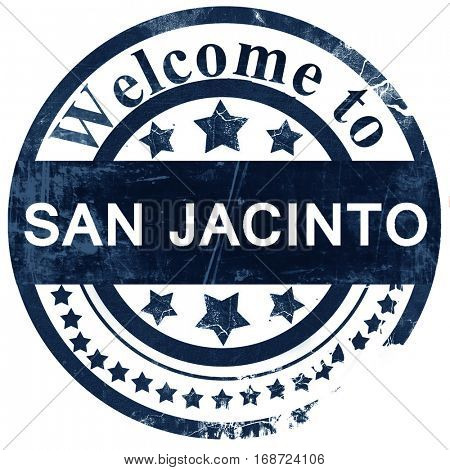 san jacinto stamp on white background