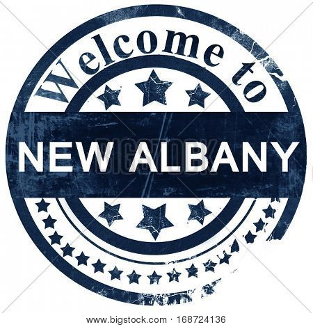 new albany stamp on white background