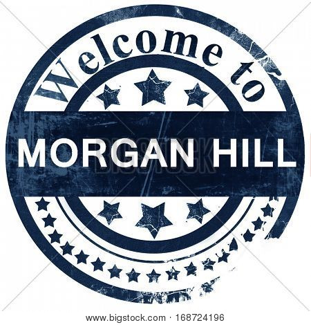 morgan hill stamp on white background