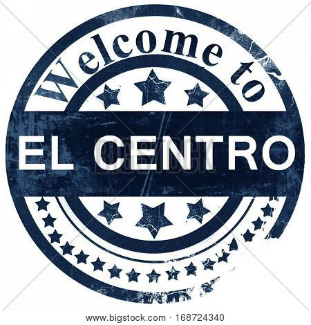 el centro stamp on white background
