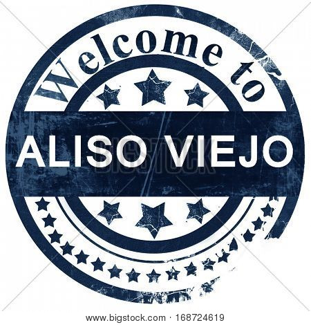 aliso viejo stamp on white background