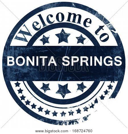 bonita springs stamp on white background