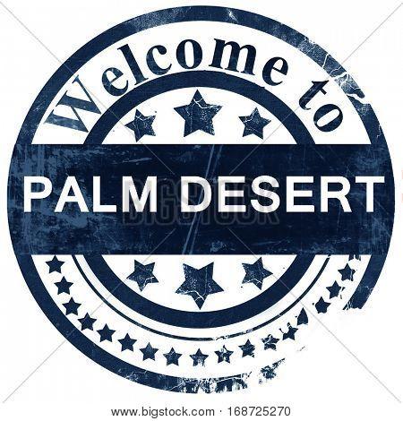 palm desert stamp on white background