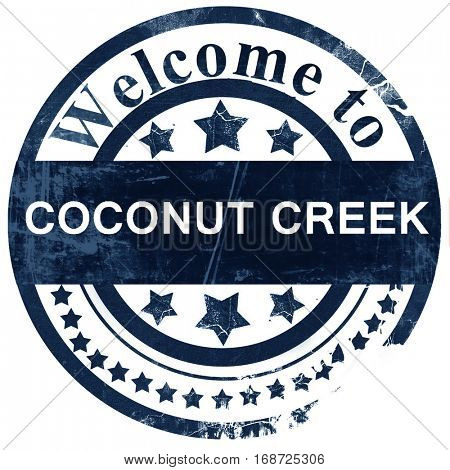 coconut creek stamp on white background