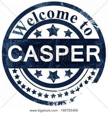 casper stamp on white background