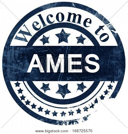 ames stamp on white background