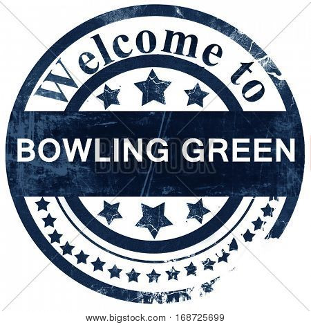 bowling green stamp on white background