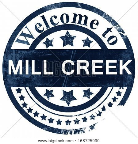 mill creek stamp on white background
