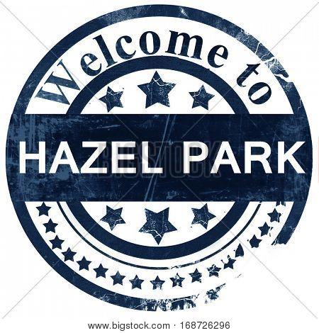 hazel park stamp on white background