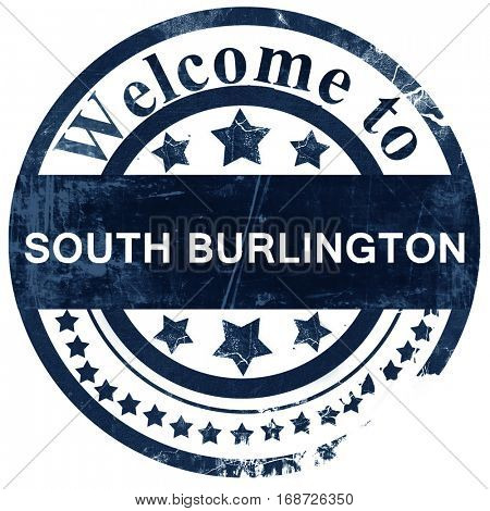 south burlington stamp on white background