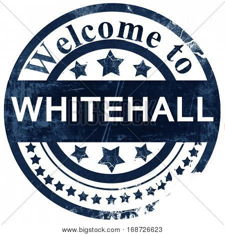 whitehall stamp on white background