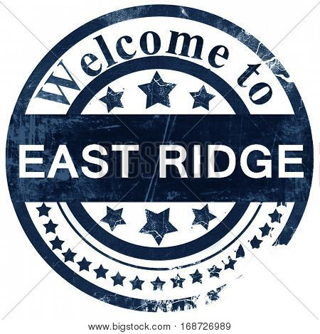 east ridge stamp on white background