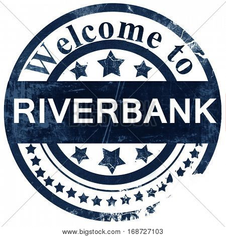 riverbank stamp on white background