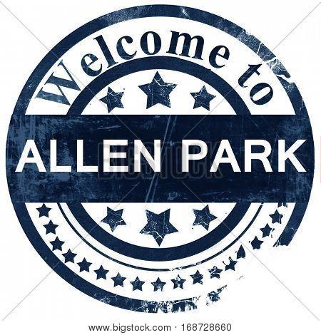 allen park stamp on white background