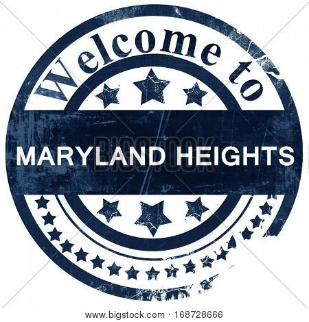 maryland heights stamp on white background