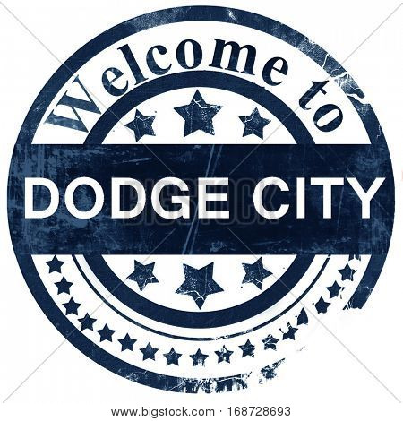 dodge city stamp on white background