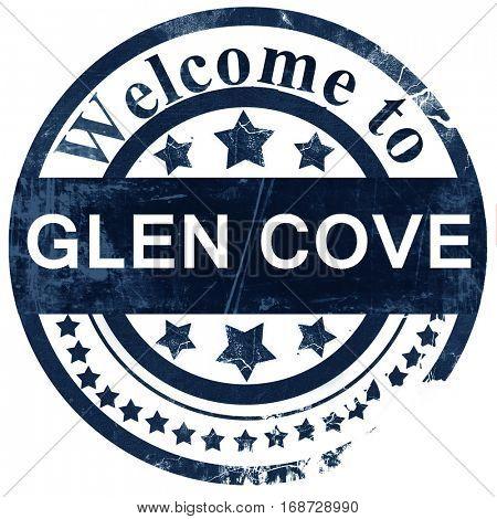 glen cove stamp on white background