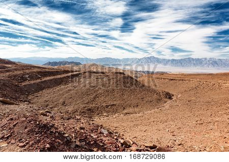 Landscape of the Eilat Mountains near to Eilat Israel