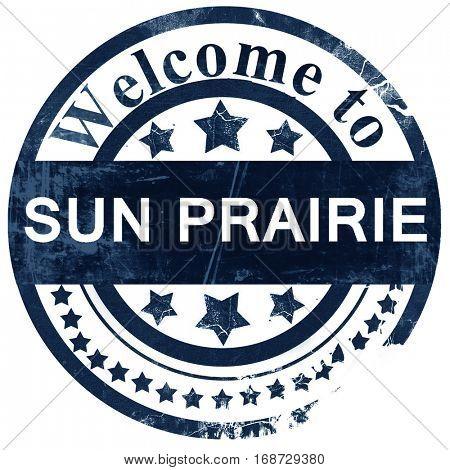 sun prairie stamp on white background