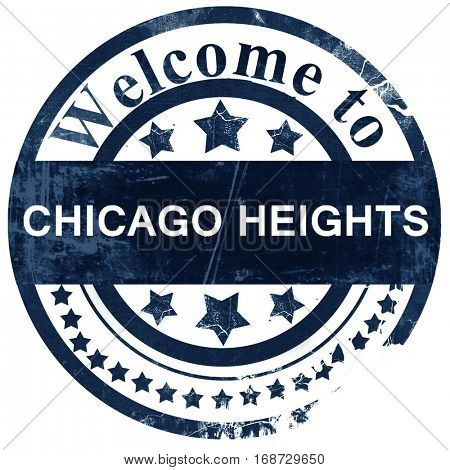 chicago heights stamp on white background