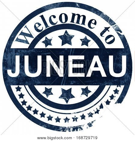 juneau stamp on white background