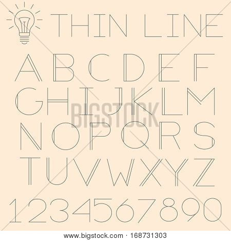 Trendy thin line alphabet (uppercase). No fill, strokes only, easy to tune line weight.