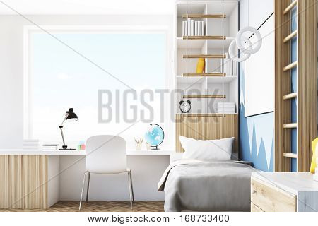 Side View Of Kid's Room With Table