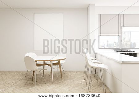 Compact Kitchen With Round Table