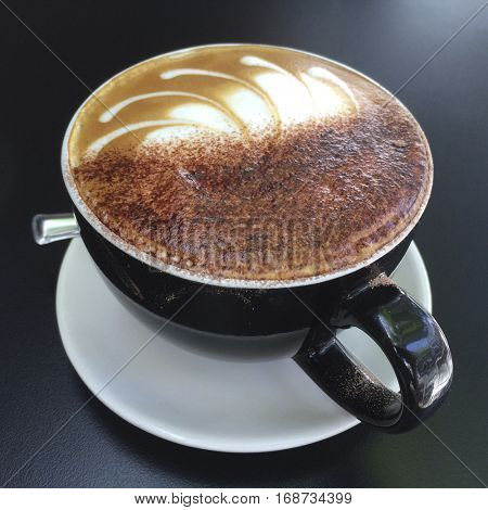 Cup of tasty cappuchino