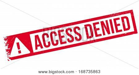 Access Denied rubber stamp. Grunge design with dust scratches. Effects can be easily removed for a clean, crisp look. Color is easily changed.