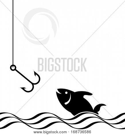 Fishing Hook Icon Set Raster Illustration