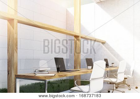 Office With Grass, Toned