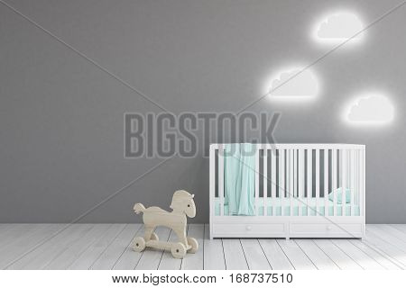 Baby's Room, Gray Walls