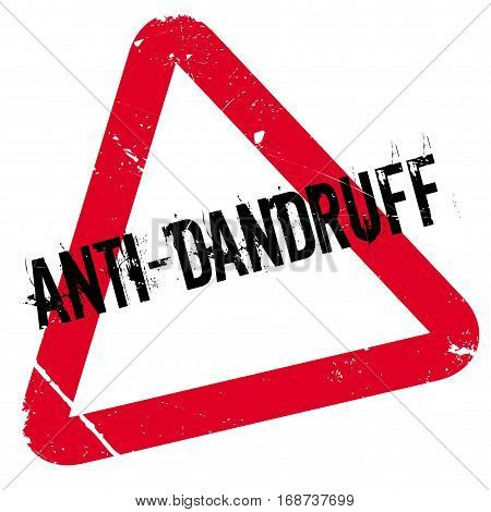 Anti-Dandruff rubber stamp. Grunge design with dust scratches. Effects can be easily removed for a clean, crisp look. Color is easily changed.