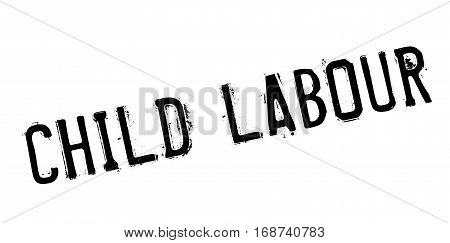 Child Labour rubber stamp. Grunge design with dust scratches. Effects can be easily removed for a clean, crisp look. Color is easily changed.
