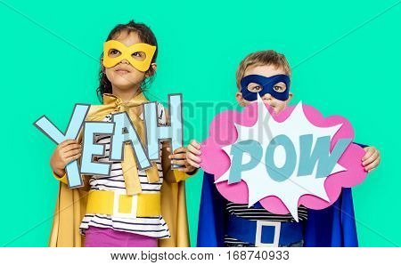 Little Kids Superhero Yeah Pow Papercrafts