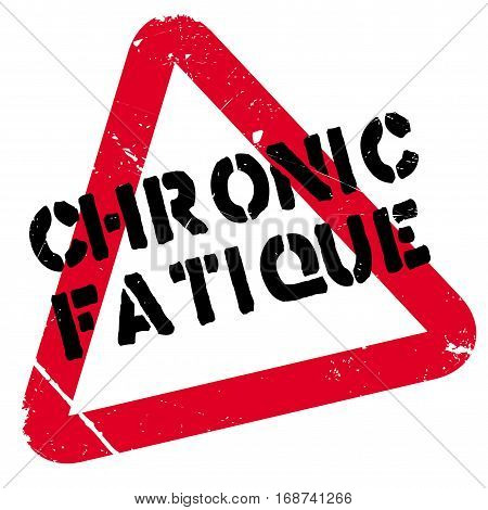 Chronic Fatique rubber stamp. Grunge design with dust scratches. Effects can be easily removed for a clean, crisp look. Color is easily changed.