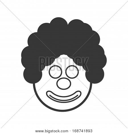 party face clown icon image, vector illustration design