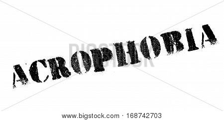 Acrophobia rubber stamp. Grunge design with dust scratches. Effects can be easily removed for a clean, crisp look. Color is easily changed.