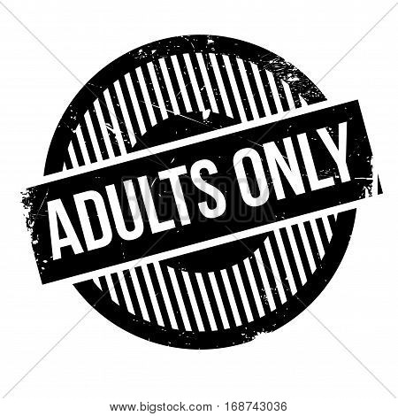 Adults Only rubber stamp. Grunge design with dust scratches. Effects can be easily removed for a clean, crisp look. Color is easily changed.