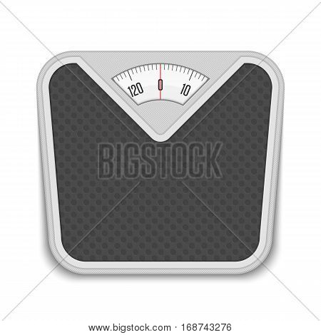 Bathroom weight scale in realistic style. Weight Scale fitness sport concept. Vector illustration EPS 10.