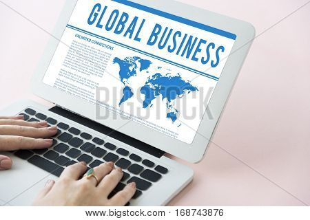 Global Business Corporate B2B Merchandise Concept